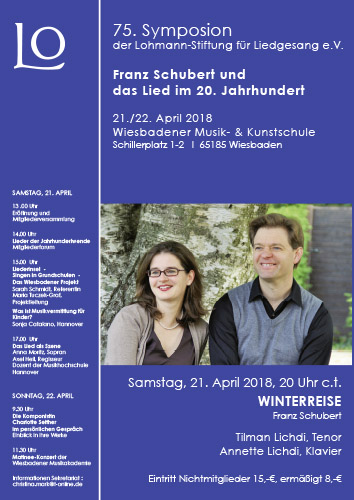 75. Lohmann-Symposion am 21. und 22. April 2018 in Wiesbaden